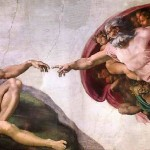 The Creation of Adam by Michelangelo, Sistine Chapel fresco