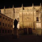 The University of Salamanca at night.